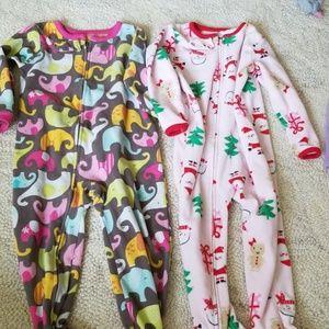 3t Fleece Sleeper pajamas